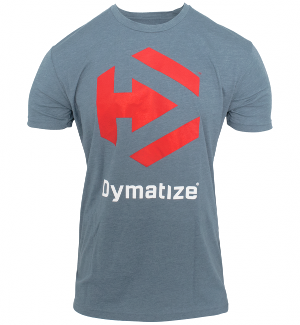 DYMATIZE LOGO TEE - STORM HEATHER